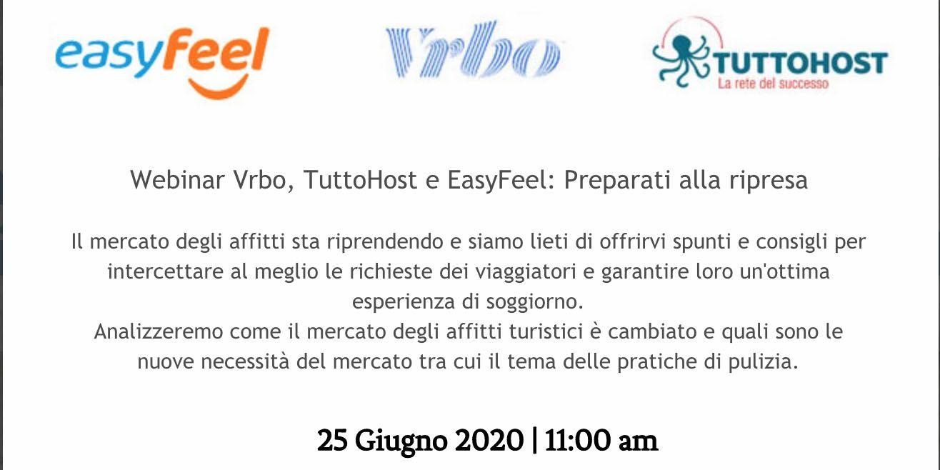Prepararsi alla ripresa: webinar con VRBO e Easy Feel